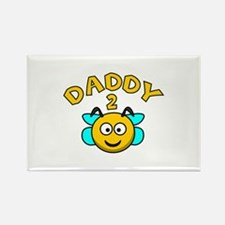 Daddy 2 Bee Rectangle Magnet