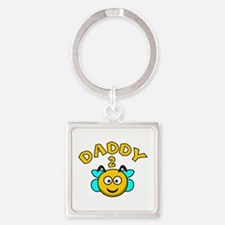 Daddy 2 Bee Square Keychain