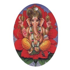 Ganesha Oval Ornament