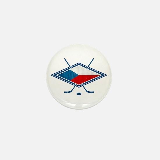 Czech Ice Hockey Flag Mini Button