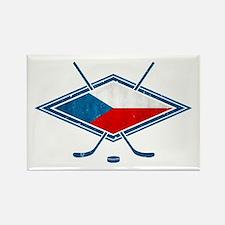 Czech Ice Hockey Flag Rectangle Magnet