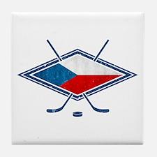 Czech Ice Hockey Flag Tile Coaster
