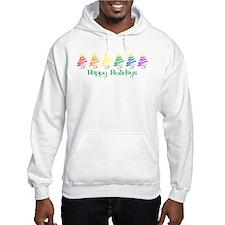 Happy Holidays (Rainbow Trees Hoodie
