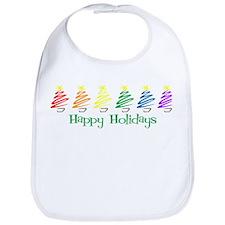 Happy Holidays (Rainbow Trees Bib