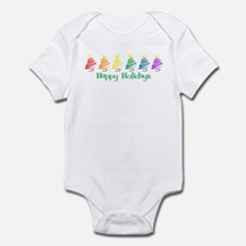 Happy Holidays (Rainbow Trees Infant Bodysuit
