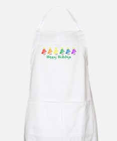 Happy Holidays (Rainbow Trees BBQ Apron