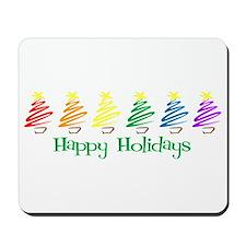 Happy Holidays (Rainbow Trees Mousepad