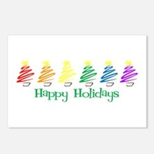 Happy Holidays (Rainbow Trees Postcards (Package o
