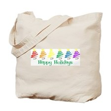 Happy Holidays (Rainbow Trees Tote Bag