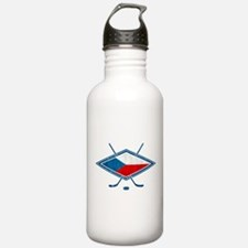 Czech Ice Hockey Flag Water Bottle