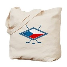 Czech Ice Hockey Flag Tote Bag
