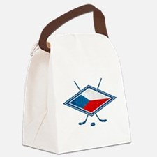 Czech Ice Hockey Flag Canvas Lunch Bag