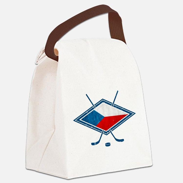 Czech Ice Hockey Flag Canvas Lunch Bag