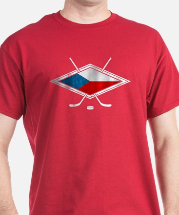 Czech Ice Hockey Flag T-Shirt
