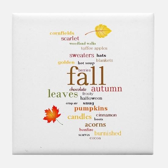 Fall Dreams Tile Coaster
