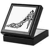 Heels Square Keepsake Boxes