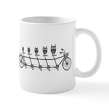 cute owls on tandem bicycle Mug