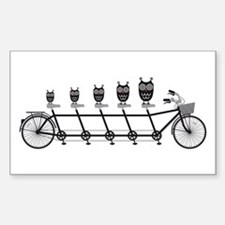 cute owls on tandem bicycle Decal