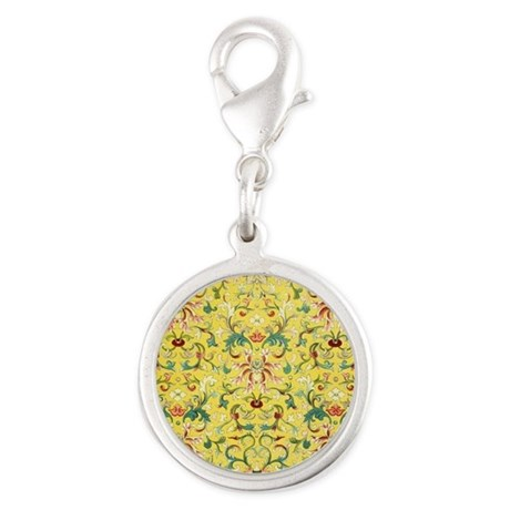 Yellow floral Chinese design Charms
