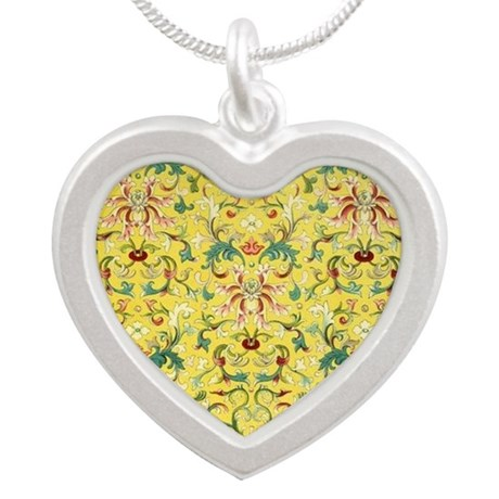 Yellow floral Chinese design Necklaces
