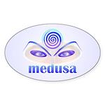 Medusa Show Oval Sticker