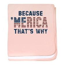 Because 'Merica Vintage baby blanket