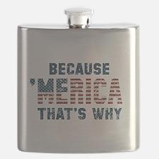Because 'Merica Vintage Flask