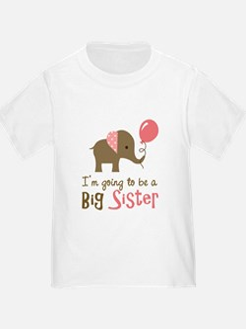 Big Sister to be - Mod Elephan T-Shirt