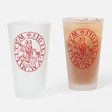 Knights Templar Drinking Glass