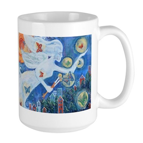 """The Angel of Hope"" by Studio OTB Large Mug"