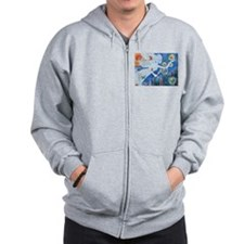 """The Angel of Hope"" by Studio OTB Zip Hoodie"