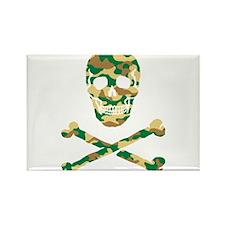Skull Camouflage Rectangle Magnet