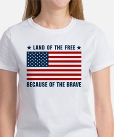 Land of the Free Flag Women's T-Shirt