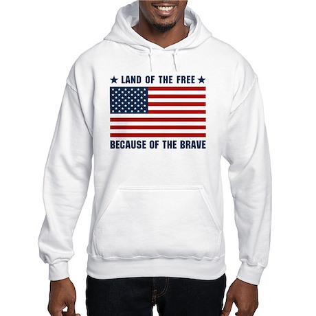 Land of the Free Flag Hooded Sweatshirt