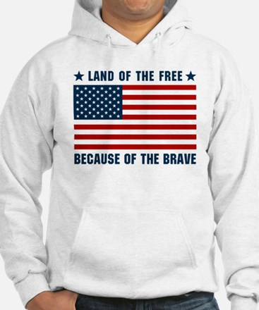 Land of the Free Flag Jumper Hoody
