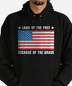 Land of the Free Flag Hoodie