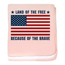 Land of the Free Flag baby blanket