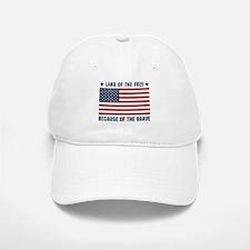 Land of the Free Flag Baseball Baseball Cap