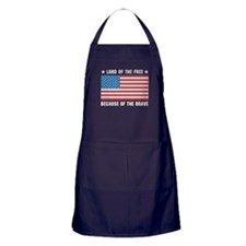 Land of the Free Flag Apron (dark)