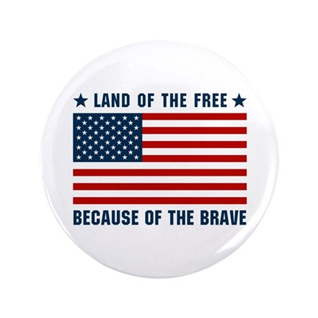 "Land of the Free Flag 3.5"" Button"