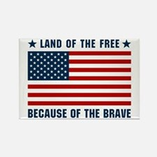 Land of the Free Flag Rectangle Magnet