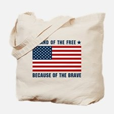 Land of the Free Flag Tote Bag