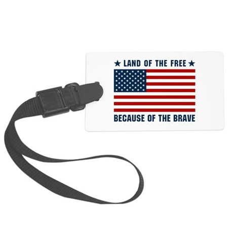Land of the Free Flag Large Luggage Tag