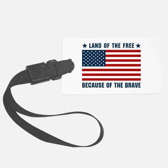 Land of the Free Flag Luggage Tag