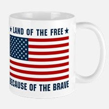 Land of the Free Flag Mug