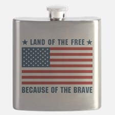Land of the Free Flag Flask