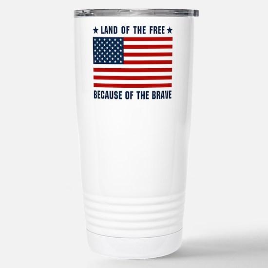 Land of the Free Flag Stainless Steel Travel Mug