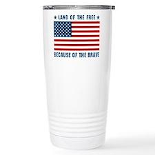 Land of the Free Flag Travel Coffee Mug