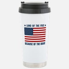 Land of the Free Flag Travel Mug