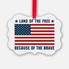Land of the Free Flag Ornament